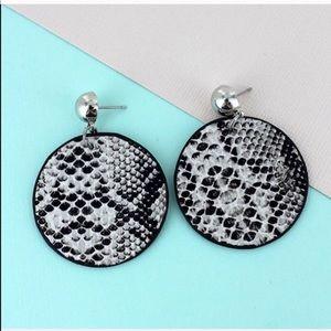 Snakeskin Earrings! Trendy!!
